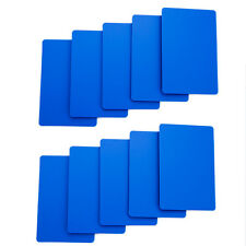 Set of 10 Blue Bridge Size Durable 100% Plastic Casino Cut Cards