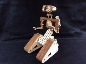 Laser Cut Wooden Johnny 5 Robot. Short Circuit Film. Model/Puzzle Kit