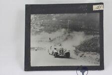 altes original privat Foto auf Glas positiv Auto Adler Trumpf um 1932 Autorennen