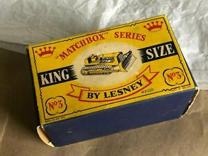 1961 Matchbox King Size 3 No.K-3a CATERPILLAR D9 BULLDOZER Box CROWN Only
