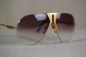 Original Boeing carrera 5701 vintage aviator sunglasses gradient brown small