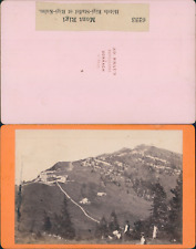 AD.Braun, Suisse, Mont Rigi, hôtels Rigi-Staffel et Rigi-Kulm Vintage CDV albume
