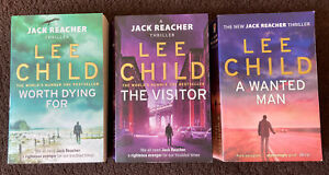 3 X Jack Reacher Book Bundle Lee Child The Visitor Worth Dying For A Wanted Man