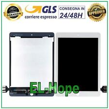DISPLAY LCD TOUCH APPLE IPAD PRO 9.7 2016 A1673 A1674 A1675 SCHERMO VETRO BIANCO