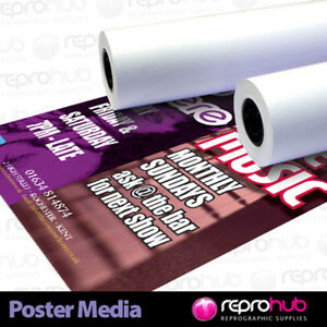 Rolls Wide Format Matte Coated Poster Paper 180gsm 1067mm x 30m - hp canon epson