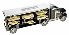 Military Transport Car Carrier With 6 Army Cars
