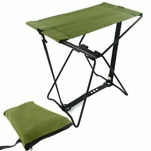 Heavy Duty Folding Fold Up Stool Pocket Fishing Chair Outdoor Camping Strong Bag