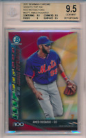 2017 Bowman Chrome Scouts Top 100 Red Refractor /5 Amed Rosario RC BGS 9.5 POP 1