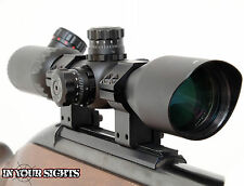 3-12x42 Rifle scope Red/Green illuminated reticle + mounts. Shockproof scope