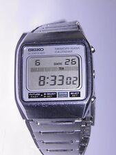 VINTAGE SEIKO JAPAN M354-5010 MEMORY-BANK CALENDAR LCD QUARTZ WATCH MADE N JAPAN