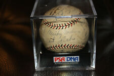 SCARCE 1937 DETROIT TIGERS signed team baseball PSA/DNA COCHRANE GOSLIN