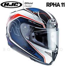 CASCO INTEGRALE MOTO RACING IN FIBRA HJC RPHA-11 DARTER BIANCO/BLU/ROSSO -LUCIDO