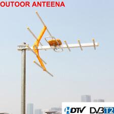 Outdoor 100Mile Amplified 8 Yagi Antenna HD TV 15dB Long Range UHF/VHF/FM HDTV S