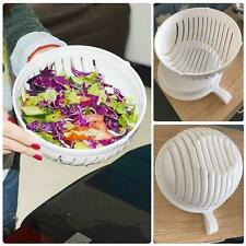 Salad Bowl & Slicer Cutter Copper Slicing Safety Guide Strainer Server Utensil**