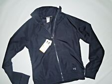 UNDER ARMOUR black track JACKET semi fitted ALLSEASONS GEAR  Large