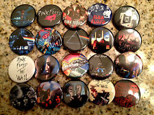 Set of 20 Pink Floyd collectible pins/buttons/badges the wall classic rock