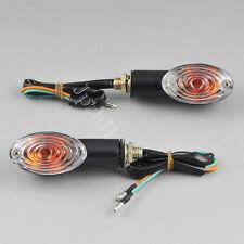 2x Motorcycle Bike Globe Bulb Turn Signal Indicators Light Universal Black J11