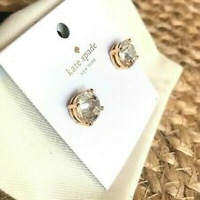 Authentic Kate Spade New York Clear Gumdrop Studs With Dust Cover