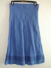 """Med. Juniors/Ladies """"Gap"""" Smocked Upper Lace Insert Royal Blue DRESS"""