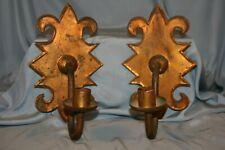 paire d'appliques années 50 en fer doré
