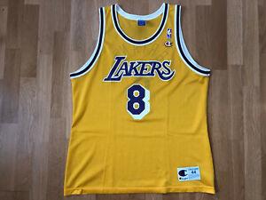 ROOKIE Kobe Bryant Size 44 Los Angeles LA Lakers Champion NBA shirt Jersey B151