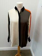 Jigsaw - A Range Silk Colour Block Long Sleeved Shirt - UK Size 12