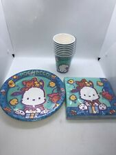 Sanrio Pochacco Dog Birthday Party Plates Napkins & Cups Lot New MIP 2001