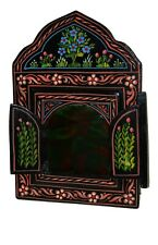 Moroccan Wall Mirror w/Doors Hand Painted Arabesque Handmade Home Decor Green