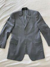 Jos A Bank Mens Suit size 42L 36W Grey/White Pinstripped