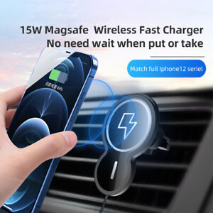 15W Wireless Car Magnetic Fast Charger Mount Holder Stand For iPhone 12 Pro Max