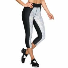 Under Armour Capris Compression High Waisted Hg Print Black White Large NWT $40