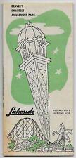 Denver,Colorado-Lakeside Amusement Park-c1950s Brochure & Map-White City bs15