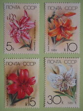 Russia 1989 Cultivated Lily Complete Set/4 Flower Orchid MNH Sc#5757-5760