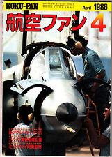 Koku-Fan Magazine April 1986 #4 Japanese Military Aircraft AH-64 Apache Midway