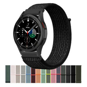 Nylon Sport Loop Watch Band Strap For Samsung Galaxy Watch 4 Classic 46mm 42mm
