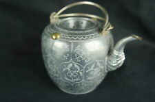 "Excellent Antique chinese pewter tea pot, 4 1/2"" tall [Y8-W6-A9]"