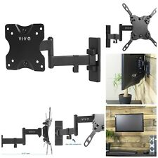 "TV And Computer Monitor Wall Mount Tilt And Swivel Steel 13"" To 27"" Screen Black"