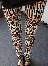 Animal print mashup soft leggings -  8 - 12 UK, leopard, zebra, safari, Africa