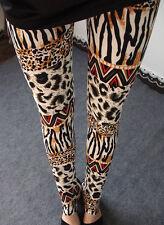 Animal print mashup soft leggings -  8 - 12 UK, leopard, zebra, safari, Africa