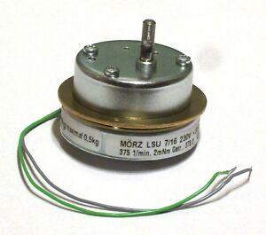 Mörz Pyramidenmotor Getriebemotor Synchron 3U/min leise Drehrichtung rechts
