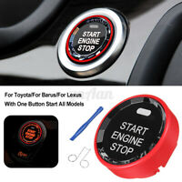 Red Color Car Engine One Button Start Stop Switch Starter Button