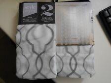 "Style Decor Rod Pocket Panels, 2 Panels Reese Grey (2) 40""X84 New"