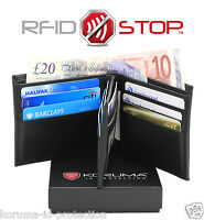 RFID Blocking Leather Billfold Wallet Credit Card ID Theft Protector ( BL BBM)