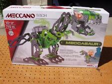 MECCANO TECH MECCASAUR 3ft PROGRAMMABLE ROBOTIC DINOSAUR WALKS ROARS 715 PC NEW