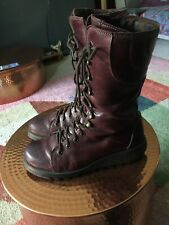 Fly London ster Boots Size 41 7.5 - 8 Burgundy Purple Red
