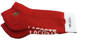 Men's Lacoste Red/White SPORT Branded Low-Cut Cotton Socks