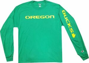 Oregon Ducks Long Sleeve Champion Wordmark Kelly Green Shirt