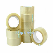 12 BIG ROLLS CLEAR STRONG PACKING TAPE SELLOTAPE 48MM x 66M PARCEL PACKAGING