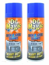 2 x Dr Magic Oven And Grill Cleaner BBQ Heavy Duty Action Cleaning Spray 390ml