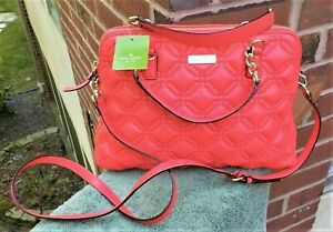 NWT Kate Spade SM Rachel Crossbody Bag Geranium Red Astor Court Quilted Leather